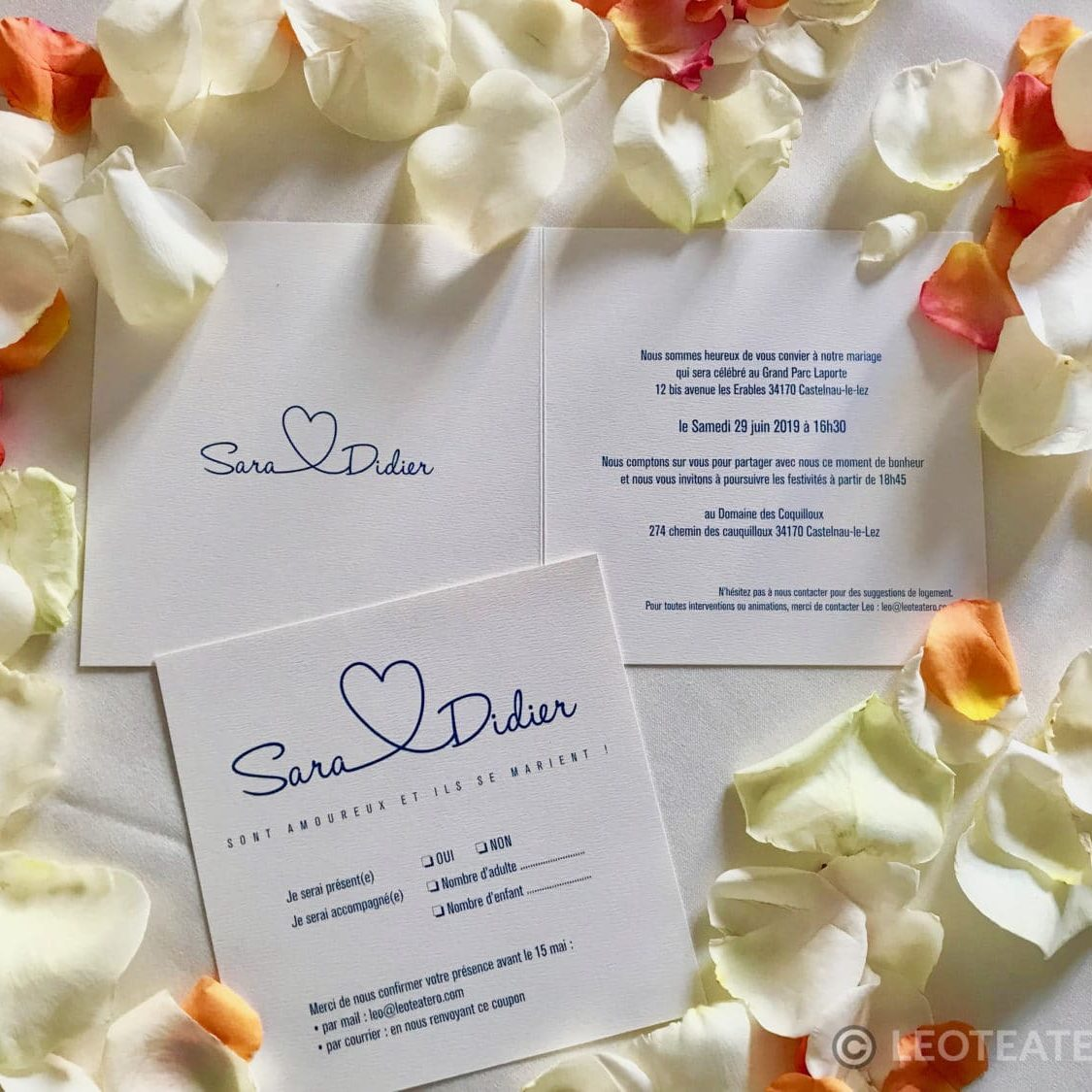 Sara and Didier Invitations